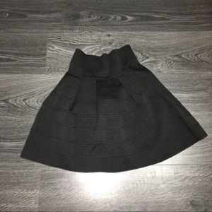 High waisted flare skirt